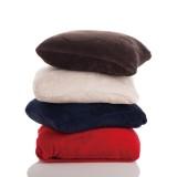 珊瑚绒毯子/靠枕 二合一